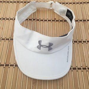 Women Under Armour White Adjustable Sun Visor Cap